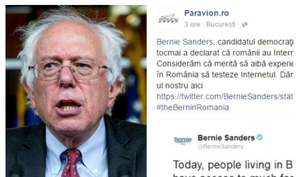 3f7d07852c Online travel agency Paravion said it would pay for the plane ticket of  Vermont senator Bernie Sanders